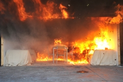 Video - staff room fire reconstruction