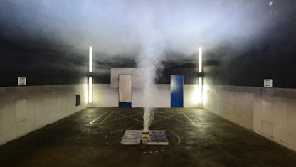 Smoke detector research smouldering fire test